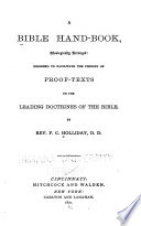 A Bible Hand Book Theologically Arranged Book PDF