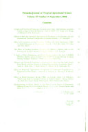 Pertanika Journal of Tropical Agricultural Science Book