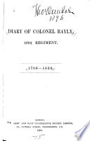 Diary of Colonel Bayly