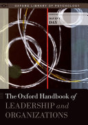 Pdf The Oxford Handbook of Leadership and Organizations Telecharger