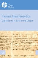 Pauline Hermeneutics Pdf/ePub eBook