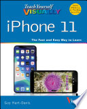 """""""Teach Yourself VISUALLY iPhone 11, 11Pro, and 11 Pro Max"""" by Guy Hart-Davis"""