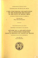 Case Concerning Delimitation of the Maritime Boundary in the Gulf of Maine Area  Maps  charts and illustrations