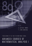 Advanced Courses of Mathematical Analysis I