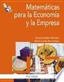 Matemáticas para la economía y la empresa