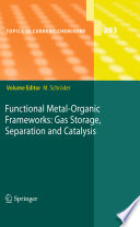 Functional Metal Organic Frameworks  Gas Storage  Separation and Catalysis Book