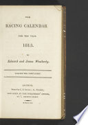 Racing Calendar For The Year 1813