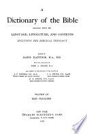A Dictionary of the Bible: Kir-Pleiades