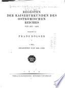 Corpus der griechischen Urkunden des Mittelalters und der neueren Zeit