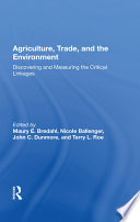 Agriculture  Trade  And The Environment