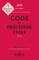 Code de procédure civile 2019, annoté