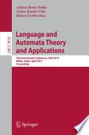 Language And Automata Theory And Applications Book PDF