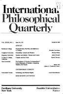 International Philosophical Quarterly