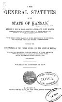 The General Statutes of the State of Kansas