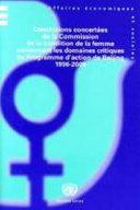 Conclusions concertées de la Commission de la condition de la femme concernant les domaines critiques du Programme d'action de Beijing 1996-2009