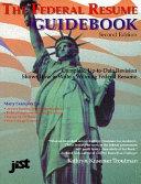 the federal resume guidebook kathryn k troutman michael singer