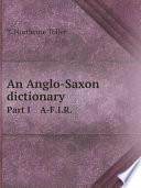 An Anglo Saxon dictionary