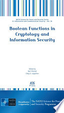 Boolean Functions in Cryptology and Information Security