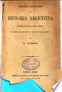 Breves lecciones de historia argentina