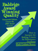 Baldrige Award Winning Quality   14th Edition