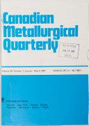 Canadian Metallurgical Quarterly Book