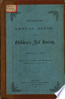 Annual Report of the Children s Aid Society Book PDF