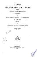 Nuove effemeridi Siciliane