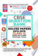 """Oswaal CBSE Question Bank Class 12 English Core Chapterwise & Topicwise (For March 2020 Exam)"" by Oswaal Editorial Board"