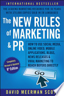 Cover of The New Rules of Marketing and PR