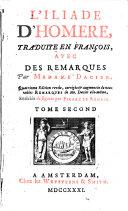 L'Iliade d'Homere. Livr. VII-XV (etc.)