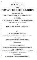 Manuel des voyageurs sur le Rhin, tr. par l'abbé Henry