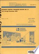 Hazards Control Progress Report
