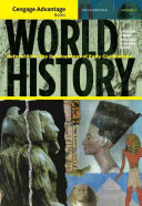 Cengage Advantage Books  World History  Before 1600  The Development of Early Civilization  Volume I