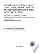 Variations in Surface water Quality in the Chain of Lakes and Its Tributaries  Devils Lake Basin  North Dakota  1957 92