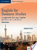 English for Business Studies - Third Edition. Student's Book