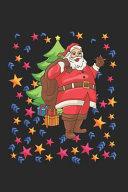 Christmas Santa Stars Notebook