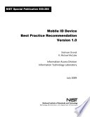 Mobile ID Device Best Practice Recommendation, Version 1. 0