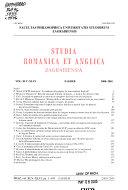 Studia Romanica Et Anglica Zagrabiensia