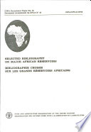 Bibliographie Choisie Sur Les Grands Réservoirs Africains