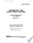 Technology for Large Space Systems