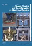 Pdf Advanced Testing and Characterization of Bituminous Materials, Two Volume Set