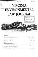 Virginia Environmental Law Journal