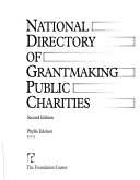 National Directory of Grantmaking Public Charities