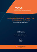 Pdf International Arbitration and the Rule of Law Telecharger