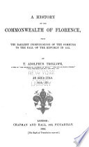 A History of the Commonwealth of Florence