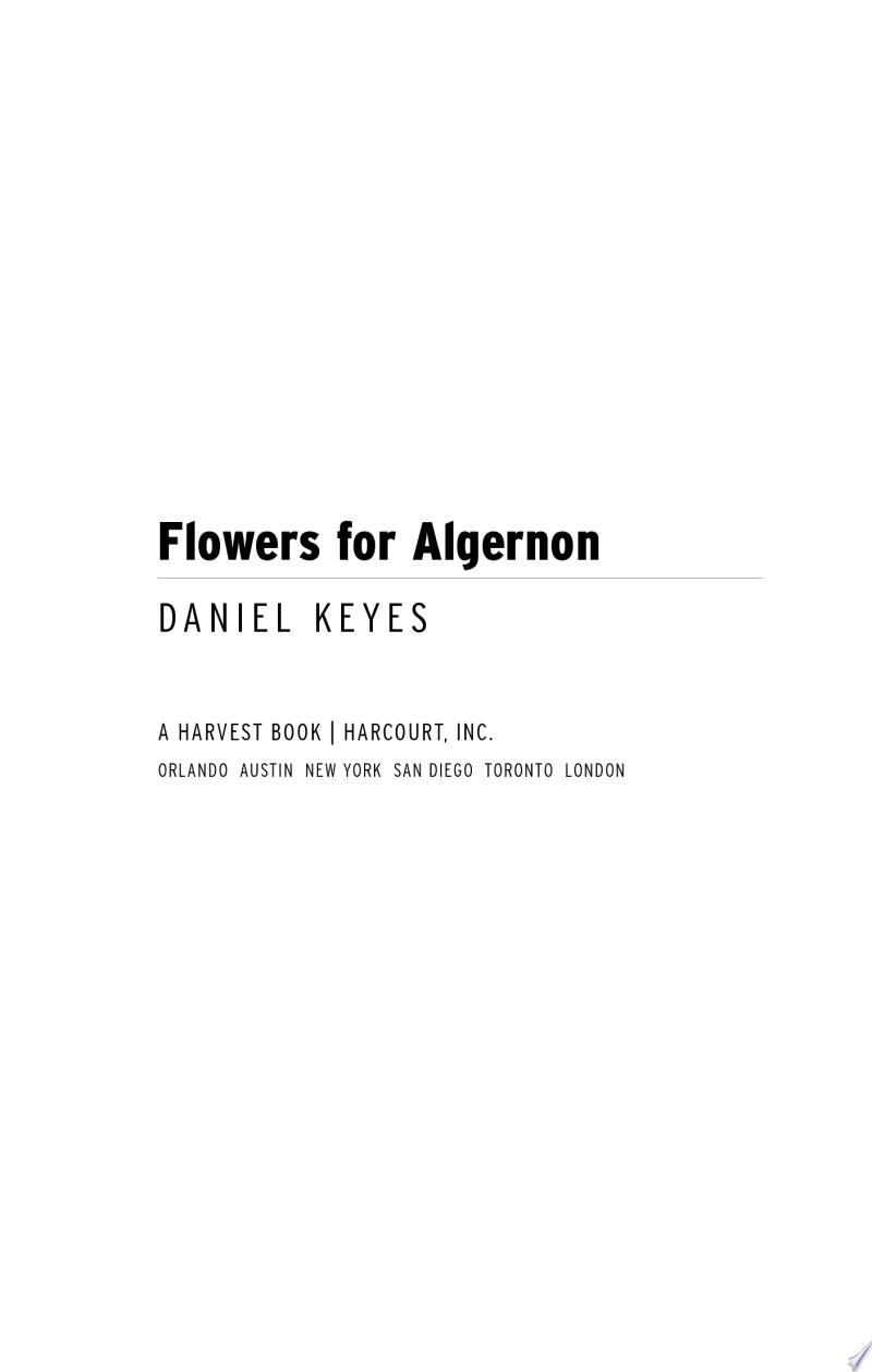 Flowers for Algernon banner backdrop