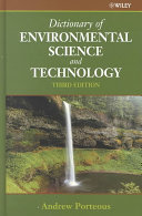 Dictionary of Environmental Science and Technology Book