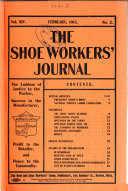 The Shoe Workers' Journal