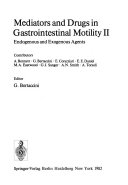 Mediators and Drugs in Gastrointestinal Motility  Endogenous and exogenous agents