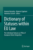 Dictionary of Statuses within EU Law